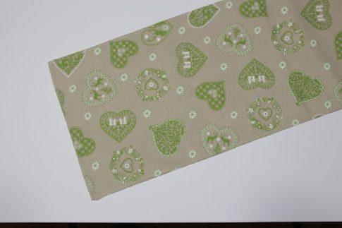 Zöld mintás futó 35 cm X 140 cm