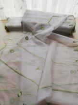 Zöld hímzett vitrázs 90 cm magas