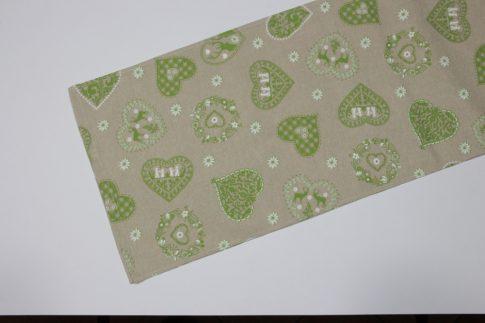 Zöld mintás futó 35 cm X 100 cm