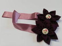 Textilvirágos mágneses elkötő,lila