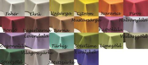 Egyszínű asztali futó TÖBB méret TÖBB szín