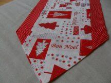 Piros szélű karácsonyi futó 140 cm X 35 cm