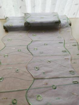 Zöld hímzett vitrázs 30/60 cm magas