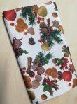 Karácsonyi mintás vízlepergető bevonatos textil asztalterítő TÖBB méretben