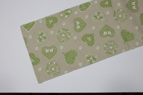Zöld mintás futó 35 cm X 70 cm