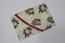 Karácsonyi mintás 140 cm kerek textil asztalterítő