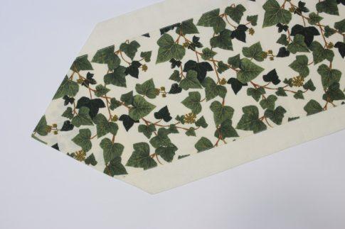 Világos szélű borostyánmintás futó 35 cm X 140 cm