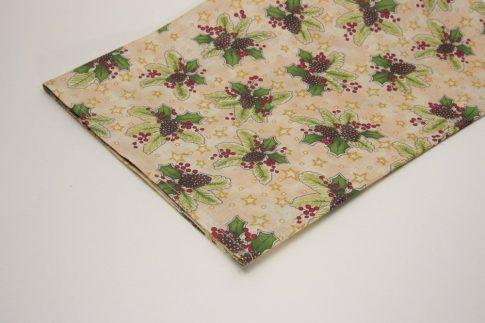 70 cm X 70 cm karácsonyi mintás asztalközép