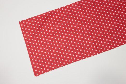 Piros csillagos futó 35 cm X 200 cm
