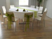 280 cm átmérőjü textil kerek asztalterítő TÖBB SZÍNBEN