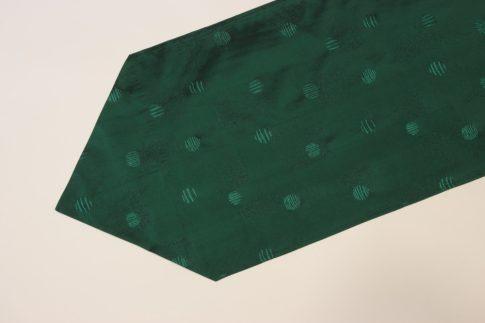 Zöld mintás taft futó 35 cm X 200 cm
