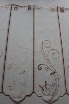 Barna hímzett vitrázs 60 cm magas