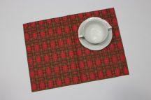 Karácsonyi mintás tányéralátét