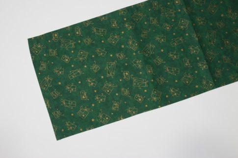 Zöld dobozos karácsonyi futó 35 cm X 200 cm