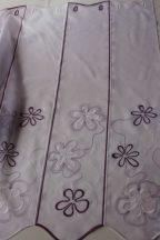Lila hímzett vitrázs 90 cm magas