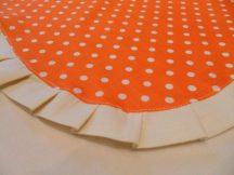 Narancssárga pöttyös fodros kötény