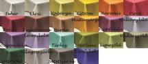 70 cm X 70 cm textil egyszínű asztalterítő (18 féle szín)