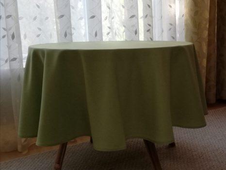 120 cm átmérő textil kerek asztalterítő TÖBB SZÍNBEN