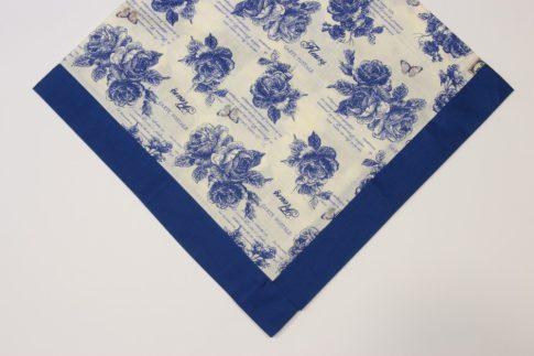 Kék mintás közép 80 cm X 80 cm
