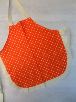 Narancssárga pöttyös gyerekkötény