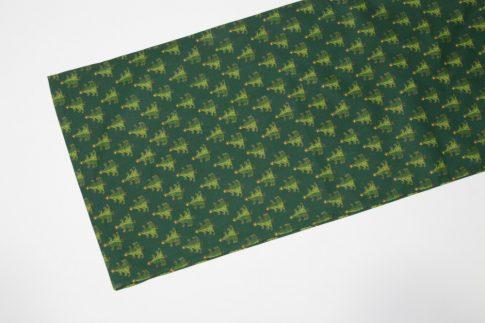 Karácsonyi zöld mintás futó 35 cm X 200 cm