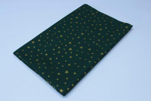 Zöld csillagos karácsonyi asztalterítő TÖBB méretben