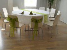 260 cm átmérőjü textil kerek asztalterítő TÖBB SZÍNBEN