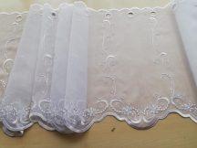 Fehér hímzett vitrázs 45 cm magas