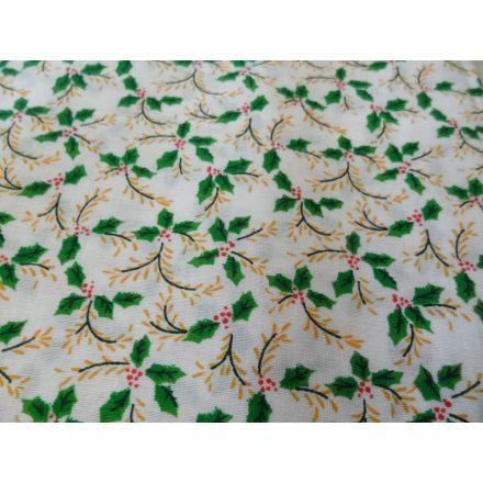 70 cm X 70 cm fehér alapon karácsonyi mintás asztalterítő