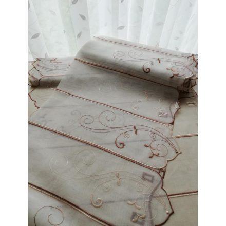 Barna hímzett vitrázs 90 cm magas