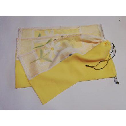 Öko bevásárló zsák csomag sárga virágos 3 db-os