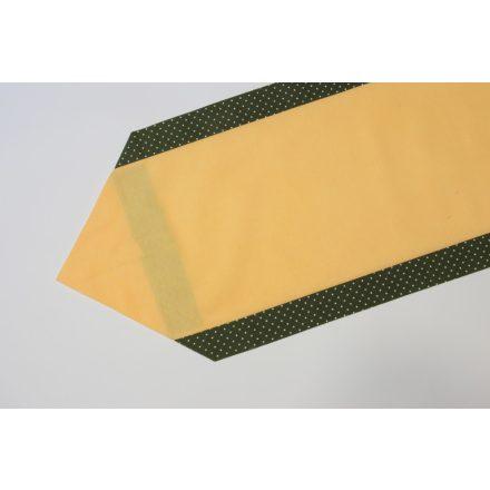 Zöld pöttyös szélű terítő 35 cm X 140 cm