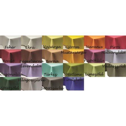 70 cm X 70 cm textil egyszínű asztalterítő (22 féle szín)
