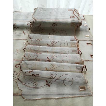 Barna hímzett vitrázs 45 cm magas
